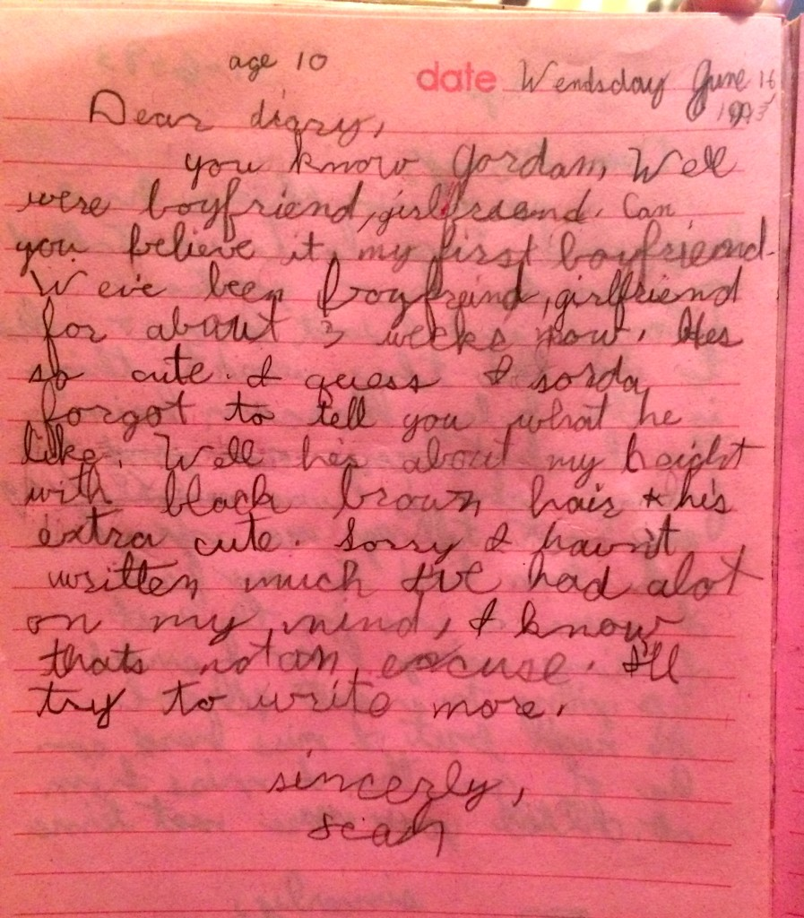 how to start a diary entry